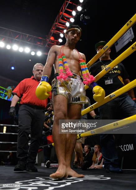 Jafar Toshev takes on Jonathan George in a Lightweight bout on September 29 2017 at Lion Fight 38 at the Fox Theater of Foxwoods Casino in...