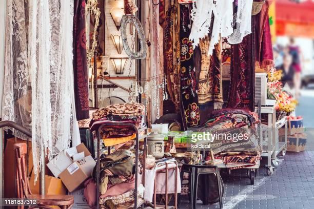 jaffa flea market - israel stock-fotos und bilder