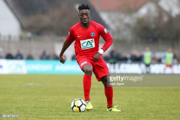 Jaffray Nsimba of Concarneau during the french National Cup match between Houilles and Concarneau on January 6 2018 in Houilles France