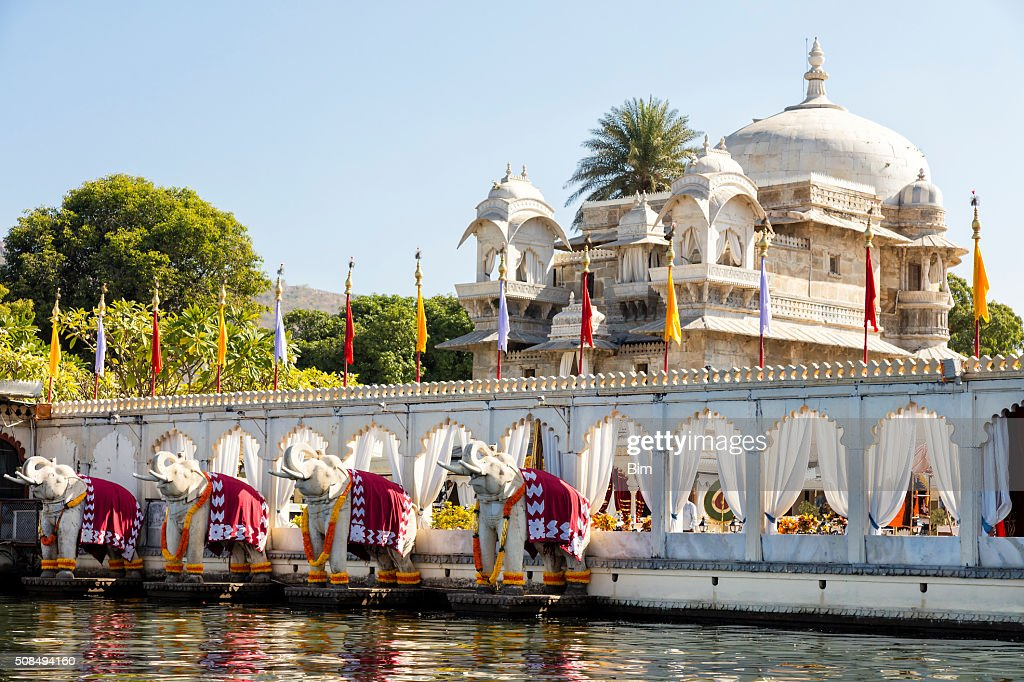 Jag Mandir Palace, Lake Pichola, Udaipur in Rajasthan, India : Stock Photo