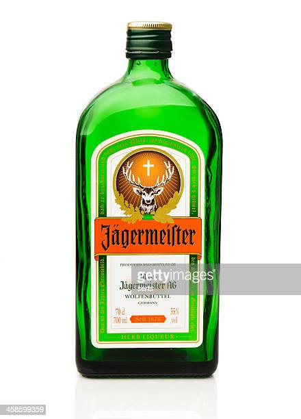 jagermeister bottle - liqueur stock pictures, royalty-free photos & images