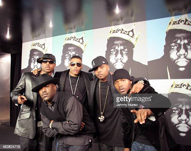 Jagged Edge and Nelly during Notorious BIG Nasty Girl Part 2 Music Video Shoot Featuring Diddy Nelly and Jagged Edge November 17 2005 at 23rd Street...