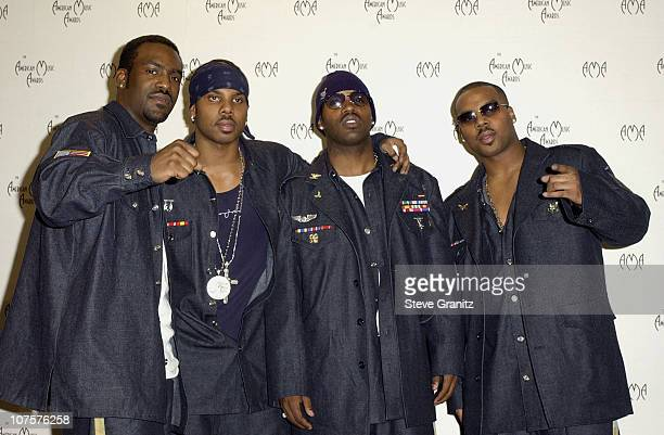 Jagged Edge poses for photographers at the 29th Annual American Music Awards at the Shrine Auditorium in Los Angeles