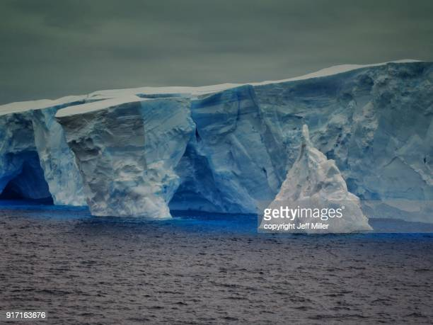 Jagged iceberg in the Southern Ocean, Antarctica