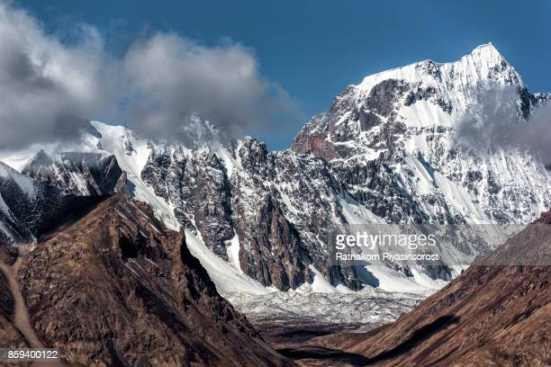 Jagged Karakoram peaks in the Hunza valley near Passu
