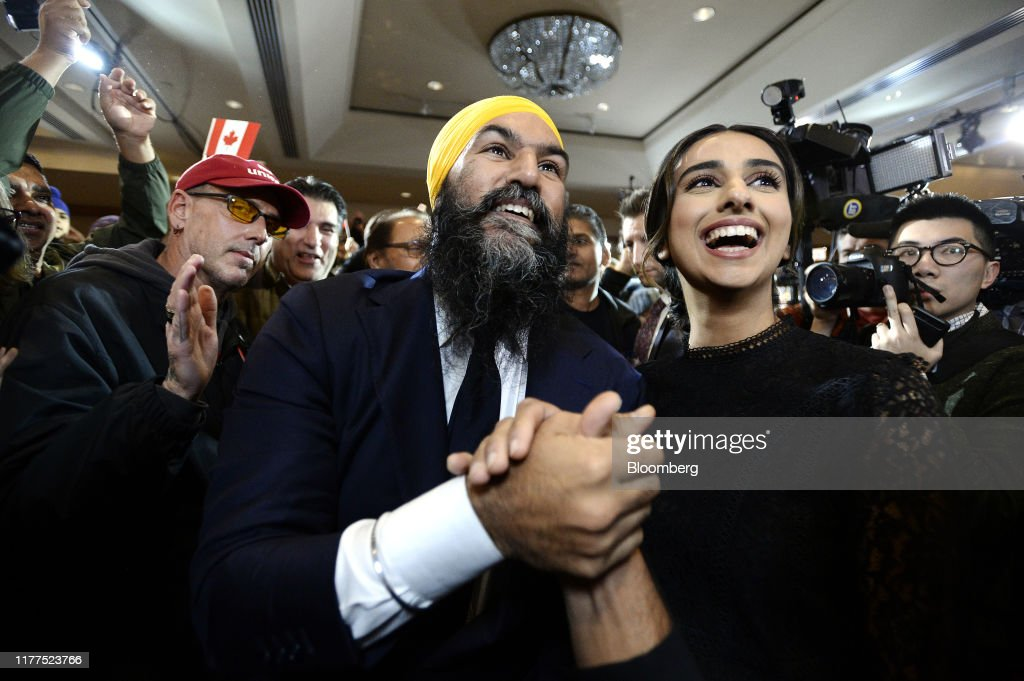 New Democratic Party Leader Jagmeet Singh Attends Election Night Event : News Photo