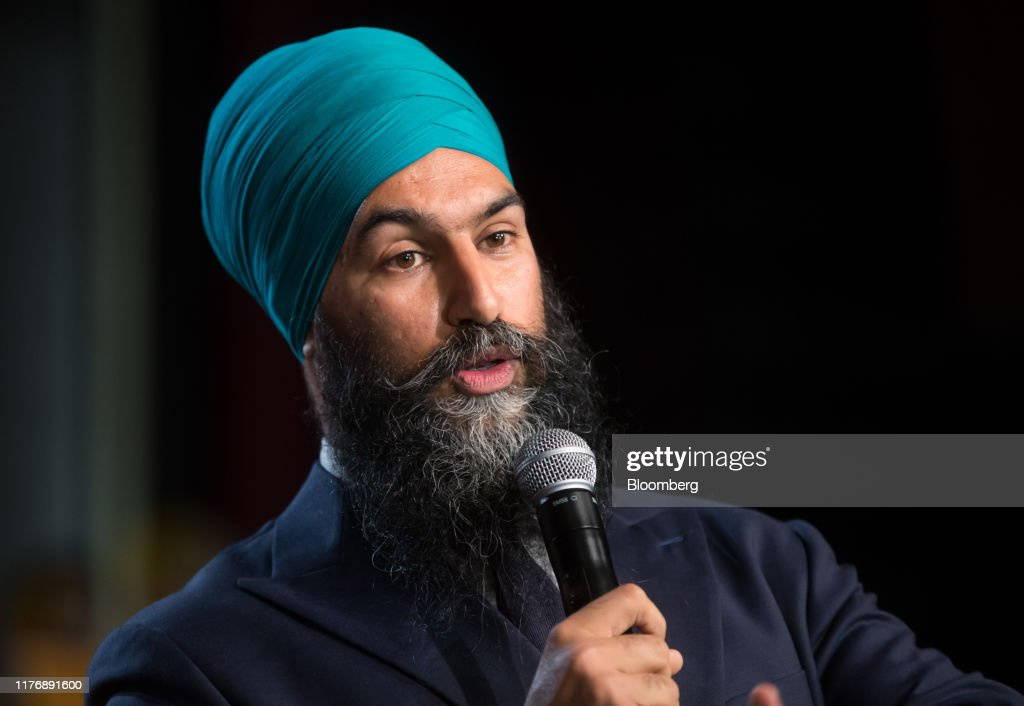 New Democratic Party Leader Jagmeet Singh Attends Campaign Rally : News Photo