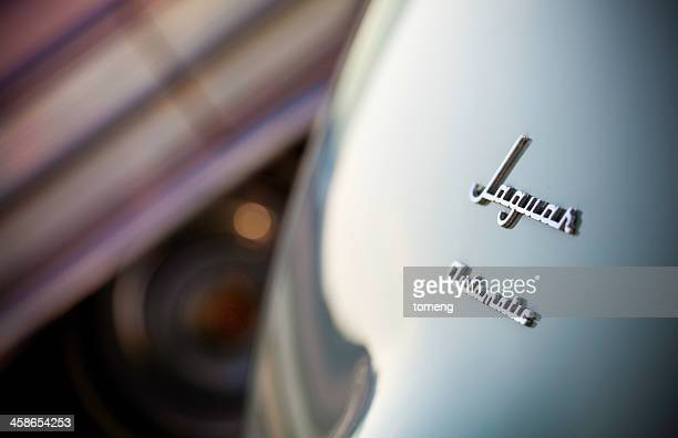 jaguar automatic logo on rear of car - jaguar stock photos and pictures