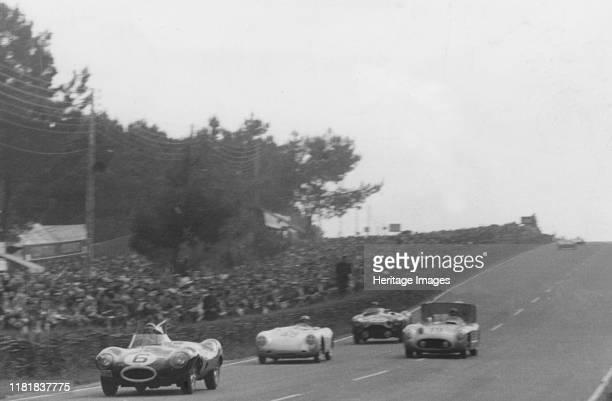 Jaguar D type Mike Hawthorn 1954 Le Mans Creator Unknown