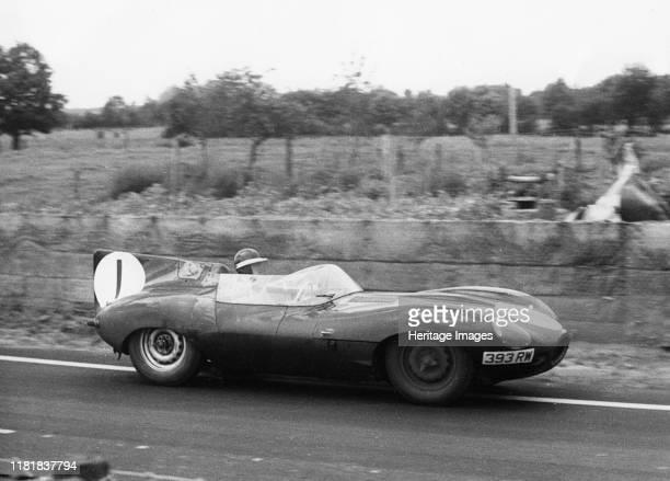 Jaguar D type Mike Hawthorn 1956 Le Mans Creator Unknown