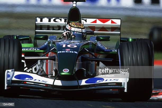Jaguar driver Eddie Irvine in action during the Formula One Hungarian Grand Prix at the Hungaroring in Budapest, Hungary on August 18, 2002.