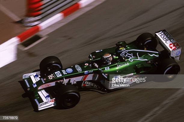 Jaguar driver Eddie Irvine of Great Britain in action during the Monaco Formula One Grand Prix held in Monte Carlo, Monaco on May 26, 2002.