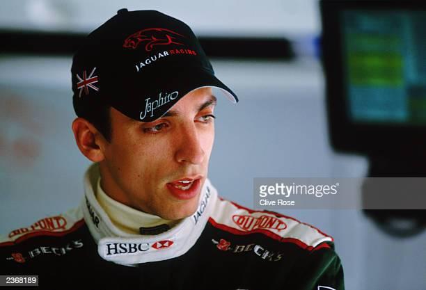 Jaguar driver Justin Wilson of Great Britain during the German Formula One Grand Prix held on August 3, 2003 at Hockenheim, in Germany.