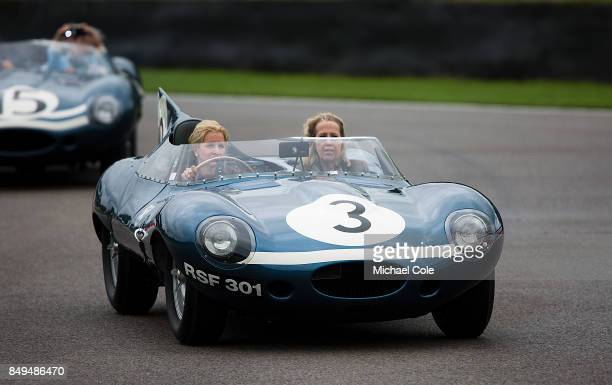 Jaguar Dtype during the Ecurie Ecosse Parade at Goodwood on September 8th 2017 in Chichester England