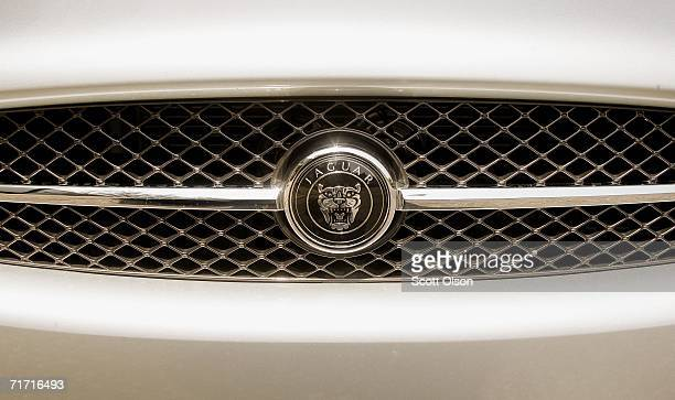 Jaguar emblem decorates the grill of a 2007 Jaguar XK convertible at a dealership August 25 2006 in Chicago Illinois According to media reports...