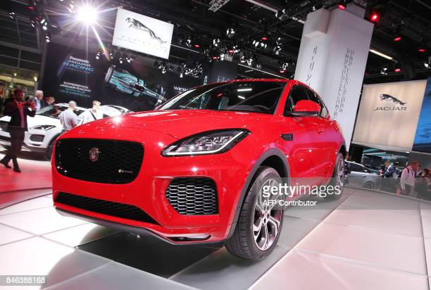 A Jaguar EPace compact SUV car is presented at the Frankfurt Auto Show IAA in Frankfurt am Main Germany on September 13 2017 According to organisers...