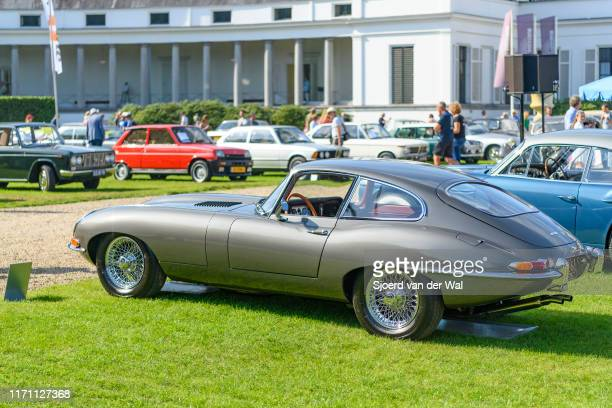 Jaguar EType 38 Series I FHC on display at the 2019 Concours d'Elegance at palace Soestdijk on August 25 2019 in Baarn Netherlands This is the first...
