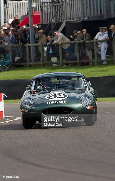 Jaguar Etype during the RAC TT Celebration race Entrant Derek Hood drivers Gordon Shedden/Chris Ward
