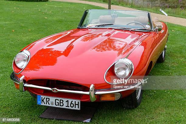 """jaguar e-type roadster classic british sports car - """"sjoerd van der wal"""" photos et images de collection"""