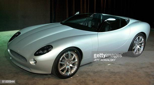 Jaguar exhibits their F-type concept roadster at the North American International Auto Show in Detroit 11 January 2000. The F-type roadster is the...