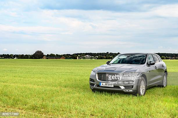 """jaguar f-pace compact luxury crossover suv - """"sjoerd van der wal"""" stock pictures, royalty-free photos & images"""