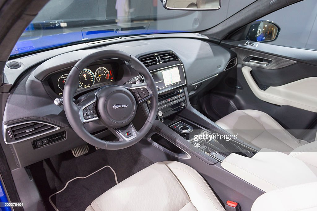 Jaguar Fpace Crossover Suv Interior Stock Photo | Getty Images