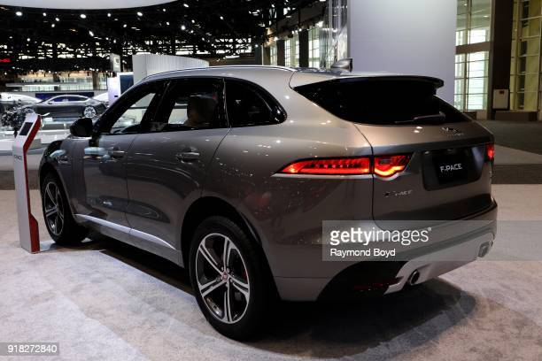 Jaguar FPace is on display at the 110th Annual Chicago Auto Show at McCormick Place in Chicago Illinois on February 8 2018