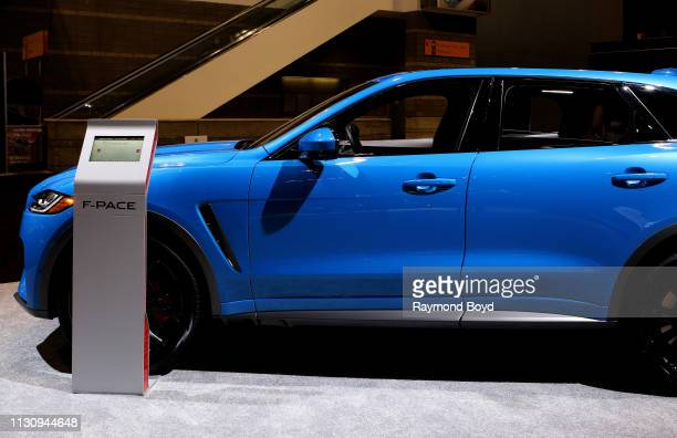 Jaguar F-Pace is on display at the 111th Annual Chicago Auto Show at McCormick Place in Chicago, Illinois on February 8, 2019.