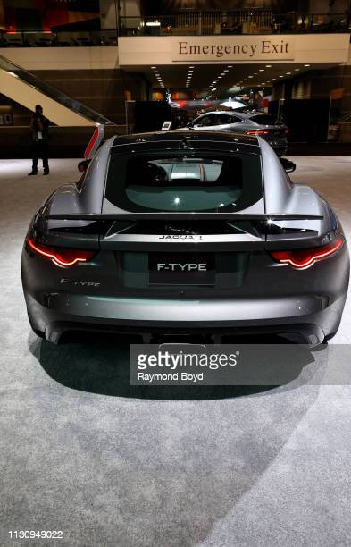 Jaguar FTYPE is on display at the 111th Annual Chicago Auto Show at McCormick Place in Chicago Illinois on February 8 2019