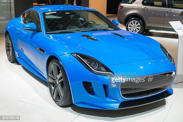 jaguar f-type s coupe sports car - letter s stock pictures, royalty-free photos & images