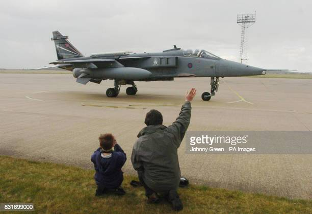 Jaguar GR3 aircraft takes off from RAF Coltishall in Norfolk, Saturday April 1, 2006. The aircraft is one of the last planes to fly from the RAF base...