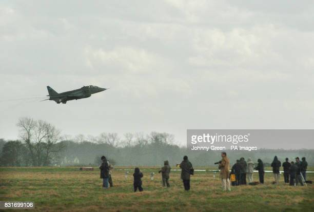Jaguar GR3 aircraft takes off from RAF Coltishall in Norfolk Saturday April 1 2006 The aircraft is one of the last planes to fly from the RAF base as...