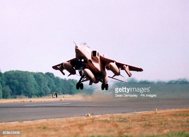 Jaguar Jet takes off for the Gulf from RAF Coltishall in Norfolk.