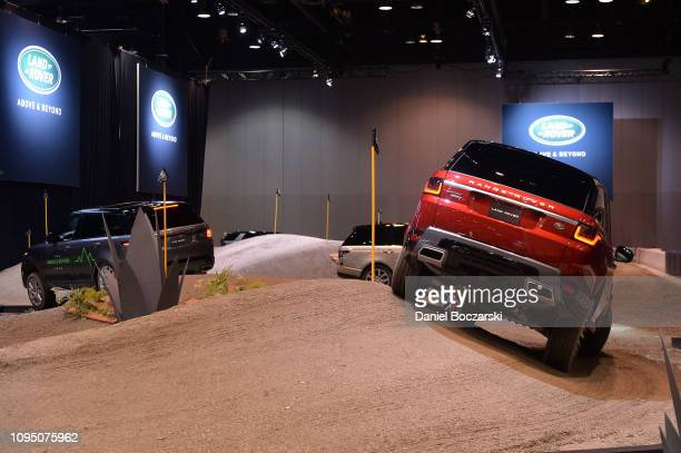 Jaguar Land Rover debuts new Range Rover Evoque at Chicago Auto Show at McCormick Place on February 7, 2019 in Chicago, Illinois.
