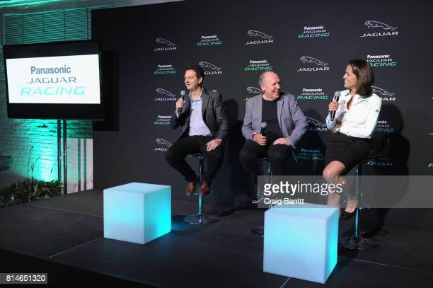 Jaguar Land Rover Executive Director Product Engineering Nick Rogers and Director Jaguar Design Ian Callum and Amanda Stretton attend the Jaguar...