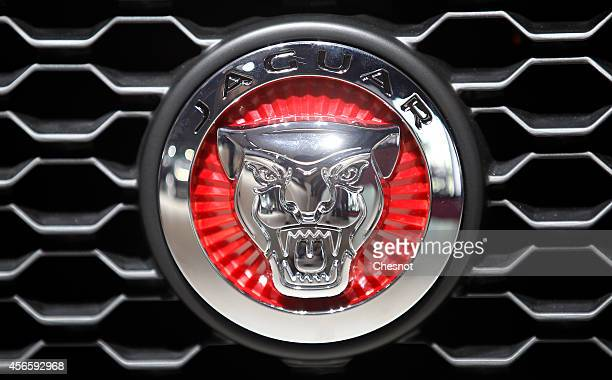 jaguar car logo pictures and photos getty images