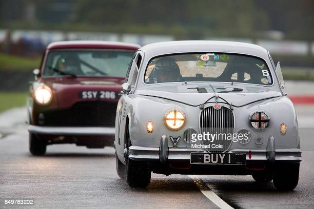 Jaguar Mk 1 entrant Anthony Williams driven by Jochen Mass in the St Mary's Trophy at Goodwood on September 8th 2017 in Chichester England