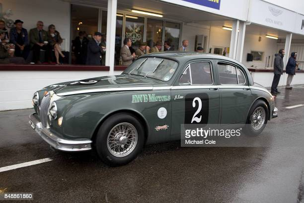 Jaguar Mk 1 entrant Don Law Racing driven by Anthony Reid in the St Mary's Trophy at Goodwood on September 8th 2017 in Chichester England