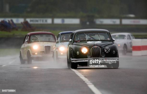 Jaguar Mk 1 entrant Guy Harman driven by Tony Jardine the St Mary's Trophy at Goodwood on September 8th 2017 in Chichester England