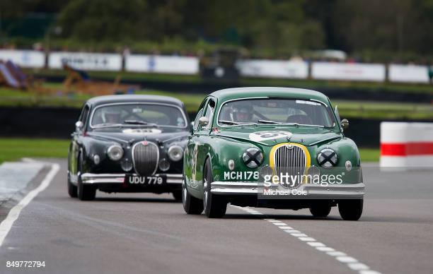 Jaguar Mk 1 entrant TradeAir Ltd driven by Frank Stippler in the St Mary's Trophy at Goodwood on September 8th 2017 in Chichester England