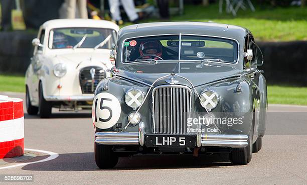 Jaguar Mk VII driven by Amanda Stretton St Mary's Trophy at the Goodwood Revival Meeting 12th Sept 2014