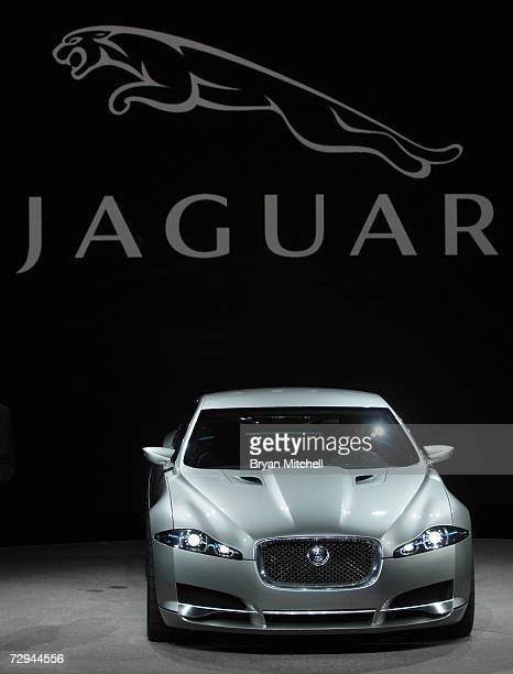 Jaguar show off the CXF Concept car to the world automotive media during the press preview days at the 2007 North American International Auto Show...