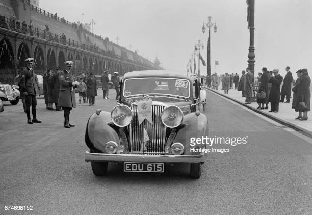 Jaguar SS of Elsie Wisdom at the RAC Rally Brighton Sussex 1939 Artist Bill Brunell