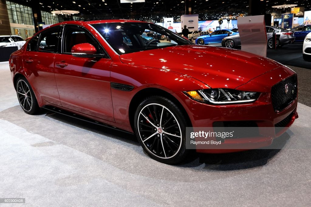 Jaguar XE is on display at the 110th Annual Chicago Auto Show at McCormick Place in Chicago, Illinois on February 9, 2018.