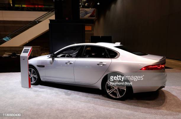 Jaguar XF is on display at the 111th Annual Chicago Auto Show at McCormick Place in Chicago, Illinois on February 8, 2019.