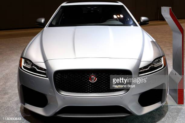 Jaguar XF is on display at the 111th Annual Chicago Auto Show at McCormick Place in Chicago Illinois on February 8 2019