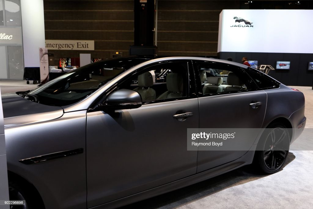 Jaguar XJL is on display at the 110th Annual Chicago Auto Show at McCormick Place in Chicago, Illinois on February 9, 2018.