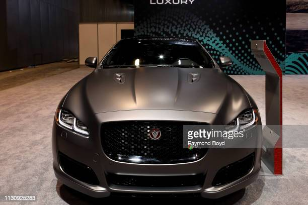Jaguar XJL is on display at the 111th Annual Chicago Auto Show at McCormick Place in Chicago Illinois on February 8 2019