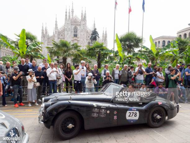 Jaguar XK 120 DHC during 1000 Miles Historic Road Race on May 19 2018 in Milan Italy