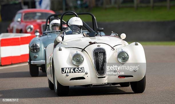 Jaguar XK 120 driven by Derek Hood during the Fordwater Trophy race